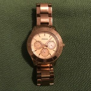 Fossil Stella stainless steel plated rose gold